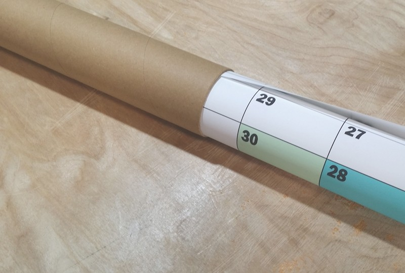 Rolled Plain Paper Wall Planners | A3, A2, A1, A0
