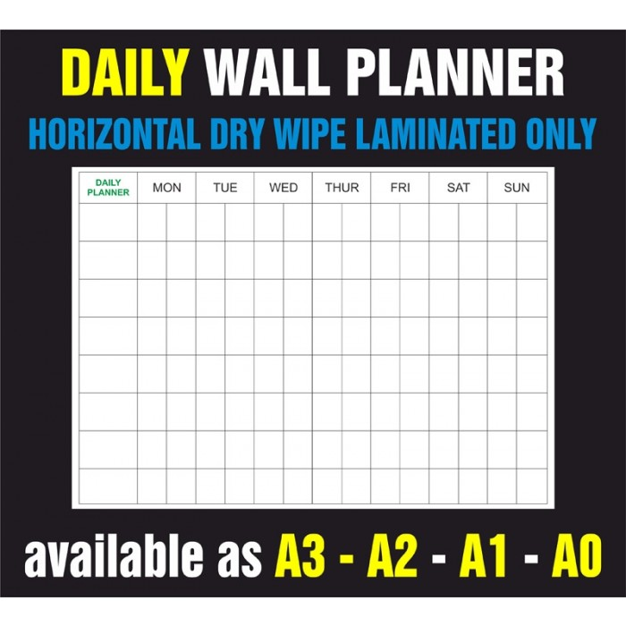 Daily Horizontal Dry Wipe Laminated Only